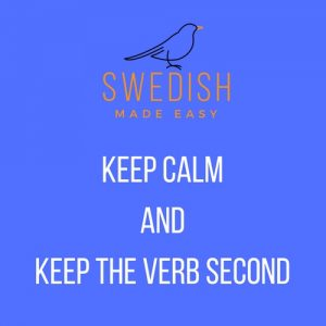 verb comes second