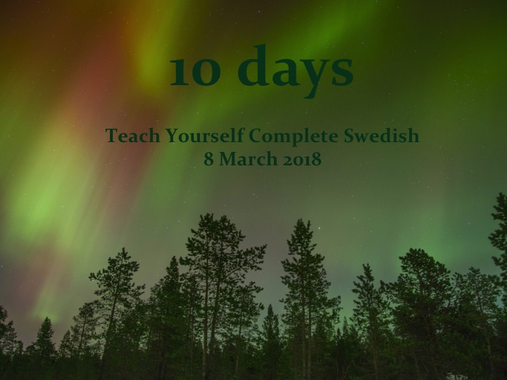 10 days until Teach Yourself Complete Swedish