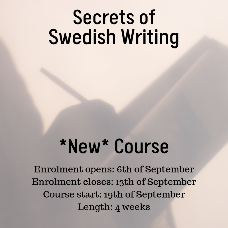 New course: Secrets to Swedish Writing